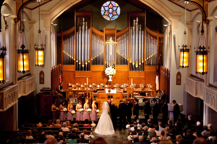 Reid Memorial Presbyterian Church Revell wedding